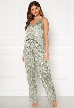 BUBBLEROOM Steph printed pyjama set Dusty green / Floral Bubbleroom.no