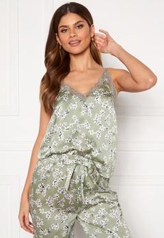 BUBBLEROOM Steph printed pyjama set Dusty green / Floral Bubbleroom.no