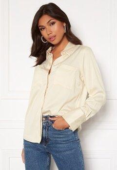 BUBBLEROOM Kelsey utility satin shirt Cream Bubbleroom.no