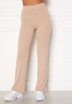 BUBBLEROOM Miley knitted trousers Beige Bubbleroom.no