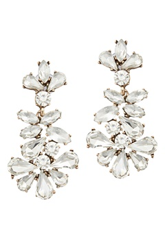 BY JOLIMA Caroline Crystal Earring Crystal Bubbleroom.no