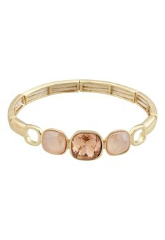 BY JOLIMA Glam Bangle Bracelet Champagne Gold Bubbleroom.no