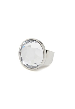 BY JOLIMA Holy Glam Ring Crystal Silver Bubbleroom.no