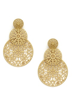 BY JOLIMA Spinn Triple Earring Gold Bubbleroom.no