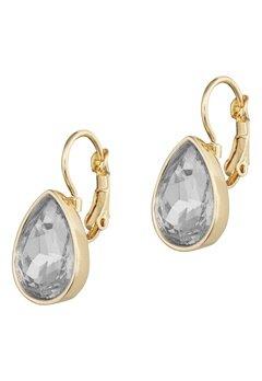 BY JOLIMA Tear Drop Earring Crystal Gold Bubbleroom.no