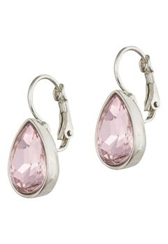 BY JOLIMA Tear Drop Earring Light Rose Silver Bubbleroom.no