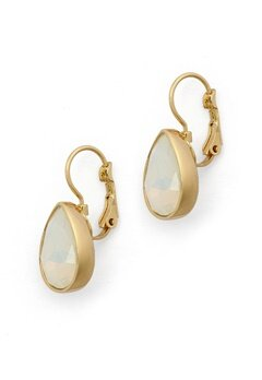 BY JOLIMA Tear Drop Earring Milky White Gold Bubbleroom.no