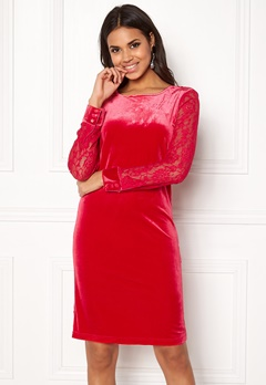 b.young Urbana Dress Crimson Red Bubbleroom.no
