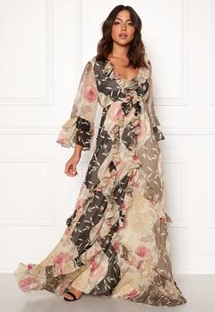 byTiMo Chiffon Dress 874 Armona Flowers Bubbleroom.no