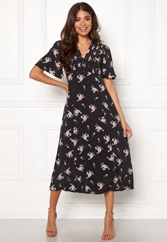byTiMo Midi Day Dress 855 Small Bouquet Bubbleroom.no