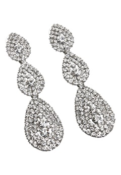 Love Rocks Byzanine Pave Earring Silver Colour Bubbleroom.no
