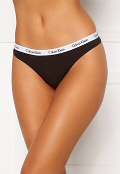 Calvin Klein 3P Thong 001 Black Bubbleroom.no