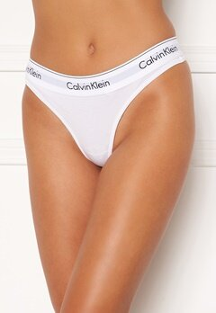 Calvin Klein CK One Cotton Thong 100 White Bubbleroom.no