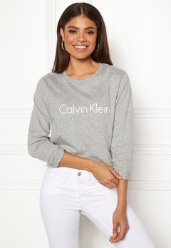 19138fb8 Calvin Klein CK L/S Crew Neck Grey Heather Bubbleroom.no