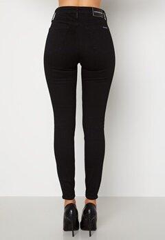 Calvin Klein Jeans High Rise Skinny Jeans 1BY Denim Black Bubbleroom.no