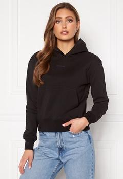 Calvin Klein Jeans Logo Trim Hoodie Black Bubbleroom.no