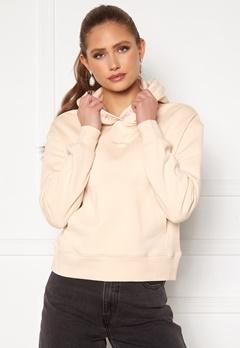 Calvin Klein Jeans Logo Trim Hoodie White Sand Bubbleroom.no