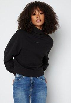 Calvin Klein Jeans Logo Trim Roll Neck BEH Ck Black bubbleroom.no