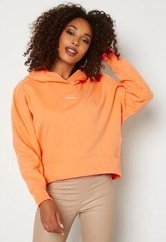 Calvin Klein Jeans Micro Branding Hoodie SFX Crushed Orange Bubbleroom.no