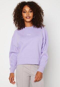 Calvin Klein Jeans Micro Branding Sweatshirt V0K Palma Lilac Bubbleroom.no