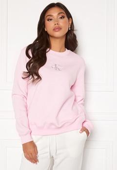 Calvin Klein Jeans Monogram Logo Crew Neck Pearly Pink/Grey Bubbleroom.no