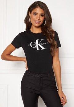 Calvin Klein Jeans Monogram Regular Fit Tee 099 CK Black Bubbleroom.no