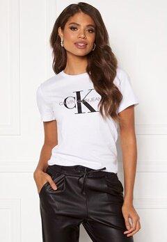 Calvin Klein Jeans Monogram Regular Fit Tee 112 Bright White Bubbleroom.no