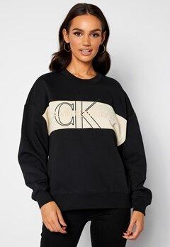 Calvin Klein Jeans Monogram Sweatshirt BEH Ck Black bubbleroom.no