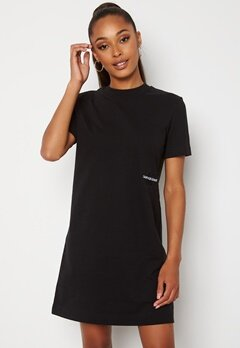 Calvin Klein Jeans Monogram T-Shirt Dress BEH Ck Black Bubbleroom.no