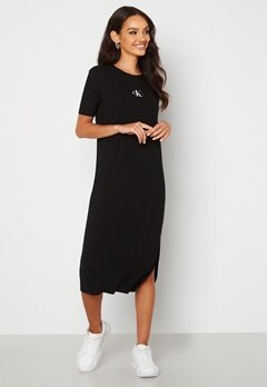 Calvin Klein Jeans Rib Maxi T-shirt Dress BEH Ck Black Bubbleroom.no