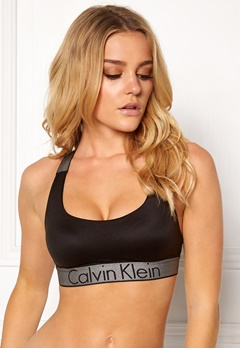 Calvin Klein Lightly Lined Bralette Black Bubbleroom.no