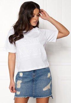 Calvin Klein S/S Crew Neck 100 White Bubbleroom.no