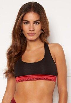 Calvin Klein Unlined Bralette 98G Black_Red Gala W Bubbleroom.no