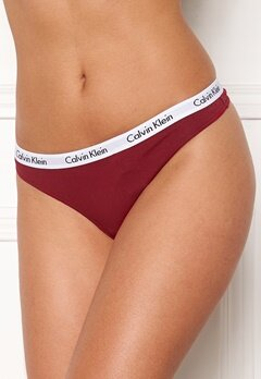 Calvin Klein Thong 3-pack Black/Emberblaze/Grö Bubbleroom.no