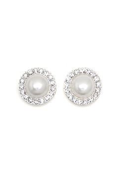 SNÖ of Sweden Carla Small Pearl Earring White Bubbleroom.no