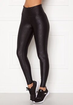 Casall Bold Leatherlike Tights 901 Black Bubbleroom.no