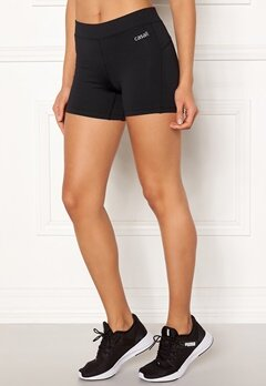 Casall Essential Short Tights 901 Black Bubbleroom.no