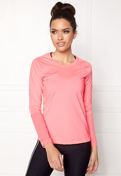 Casall Mesh Insert Long Sleeve 367 Fearless Pink Bubbleroom.no