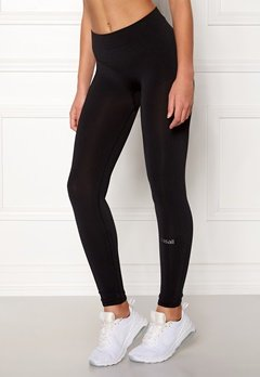 Casall Seamless Rib Tights 901 Black Bubbleroom.no
