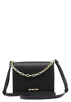 Love Moschino Chain Crossbody Bag 00B Black/Gold Bubbleroom.no