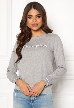 Champion Crewneck Sweatshirt Gray Melange EM006OX Bubbleroom.no
