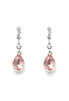SNÖ of Sweden Charlene Long Earring S/Pink Bubbleroom.no