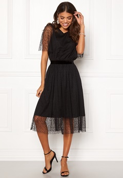 Y.A.S Charlotte SS Midi Dress Black Bubbleroom.no
