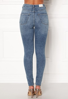 CHEAP MONDAY High Spray Cut Off Jeans Blue Bubbleroom.no