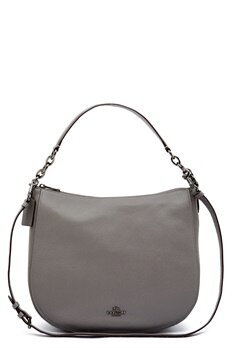 COACH Chelsey Leather Bag DKHGR Heather Grey Bubbleroom.no