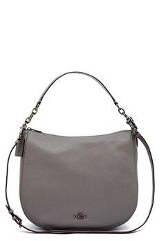 COACH Chelsey Leather Bag DKHGR Heather Grey Bubbleroom.no