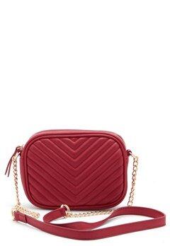 New Look Chevron Quilt Camera Bag Bright Red Bubbleroom.no