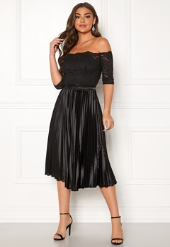 Chi Chi London Anna-Marie Bardot Dress Black Bubbleroom.no