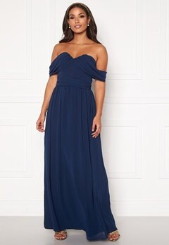 Chi Chi London Laine Maxi Dress Navy Bubbleroom.no