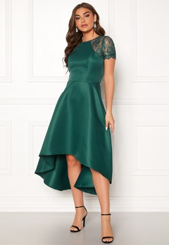 Chi Chi London Rachel High low Dress Emerald Bubbleroom.no